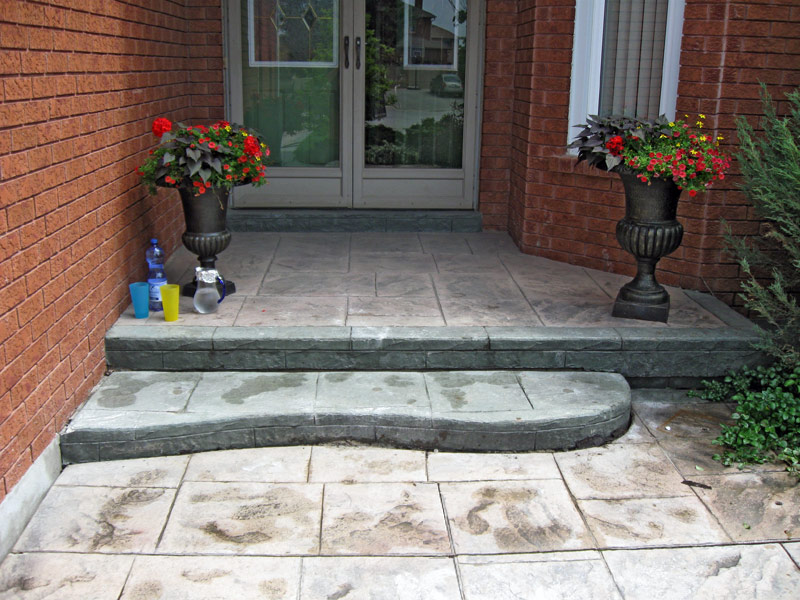 how to fix uneven concrete stairs