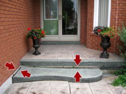 Sunken Step Repair